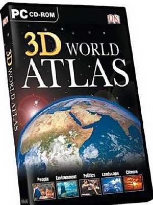 програми для географії, атлас світу, 3D